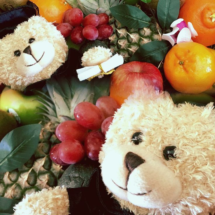 CONGRATULATIONS! Say it with fruit & a message bear  #baby #congratulations #fruitbaskets #fruithampers #fruitbasket #fruithamper #messagebear #congratulationgift