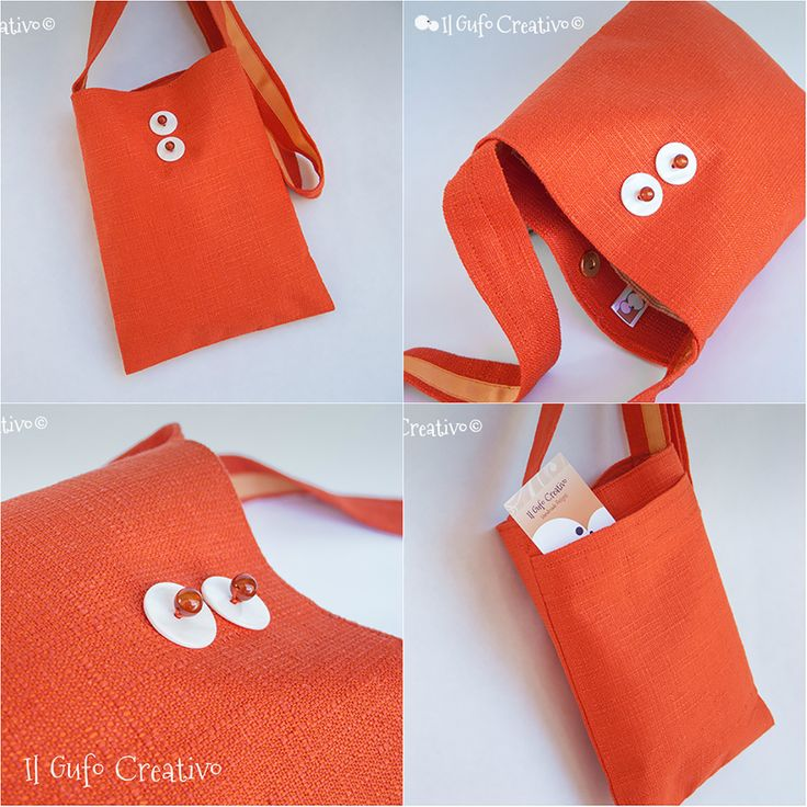Orange mini shoulder bag - Il Gufo Creativo