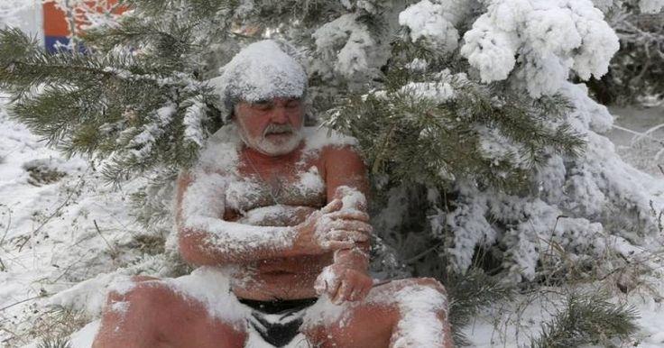 Χειμερινοί κολυμβητές στην παγωμένη Σιβηρία (φωτό)