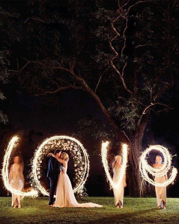 Top 20 muss Nacht Hochzeitsfotos mit Lichtern sehen