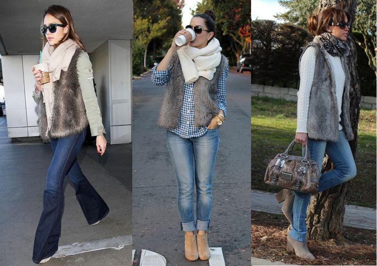 07_Colete de pelucia_looks para o trabalho_fur vest_colete de pelo fake_colete de pelucia_como usar_colete de pelucia cinza