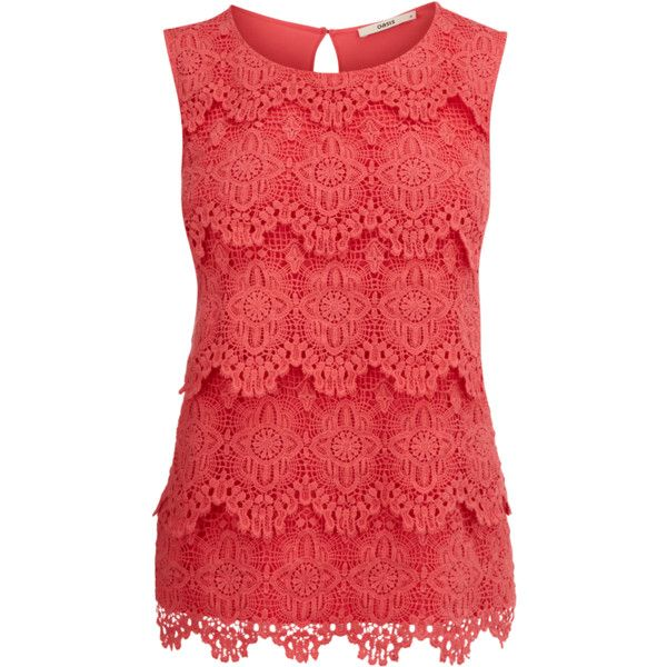 Lace Shell Top ❤ liked on Polyvore