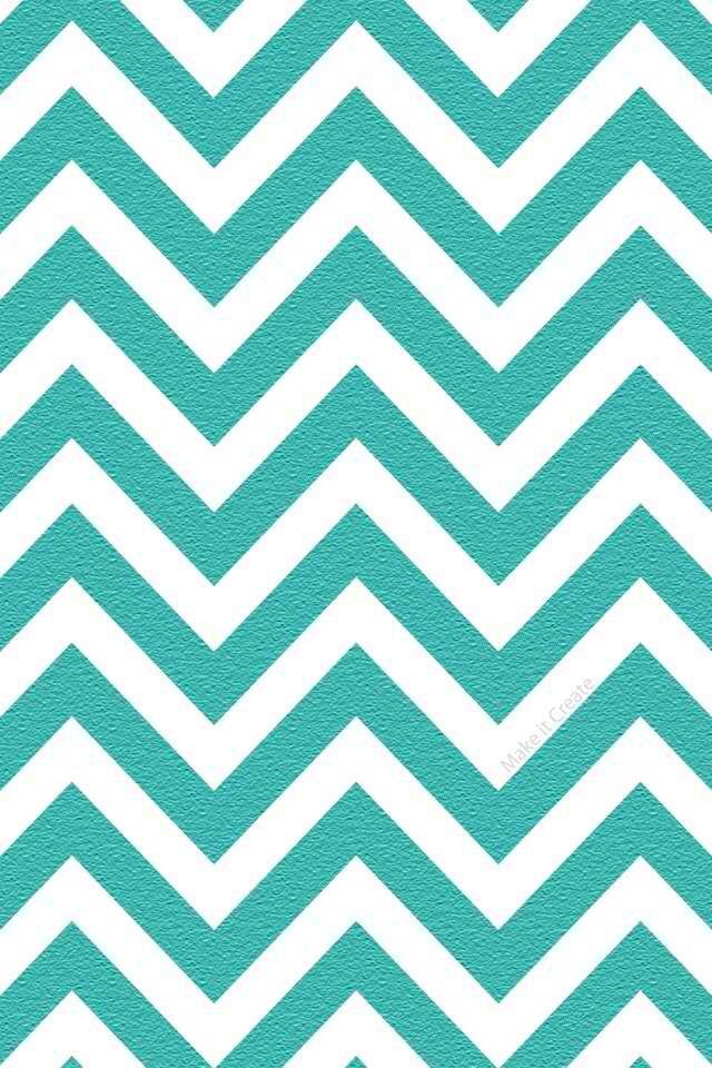 Teal turquoise chevron wallpaper