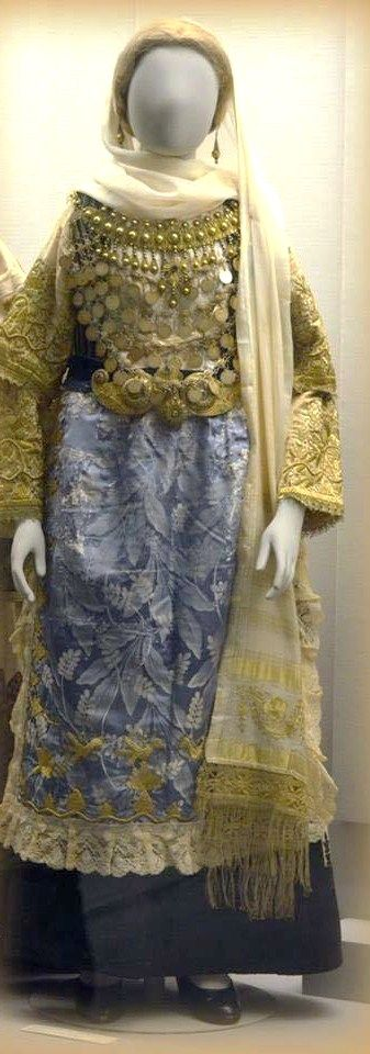 Traditional bridal costume from Avlonas Attica Greece donated to Benaki Museum by Mrs Maria Dakou