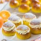 Saffranssemlor med apelsinfyllning