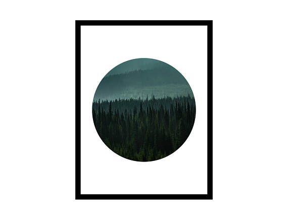Circle Print Printable Foggy Art Digital Print Minimalist