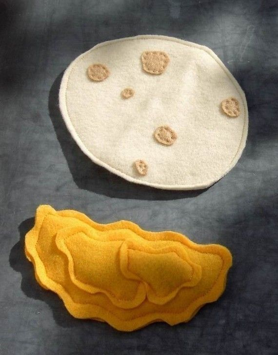 Cheese Quesadilla Felt Food by PickleThings on Etsy