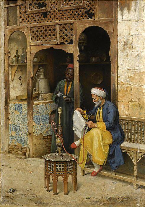 The Coffee House Cairo  Arthur von Ferraris