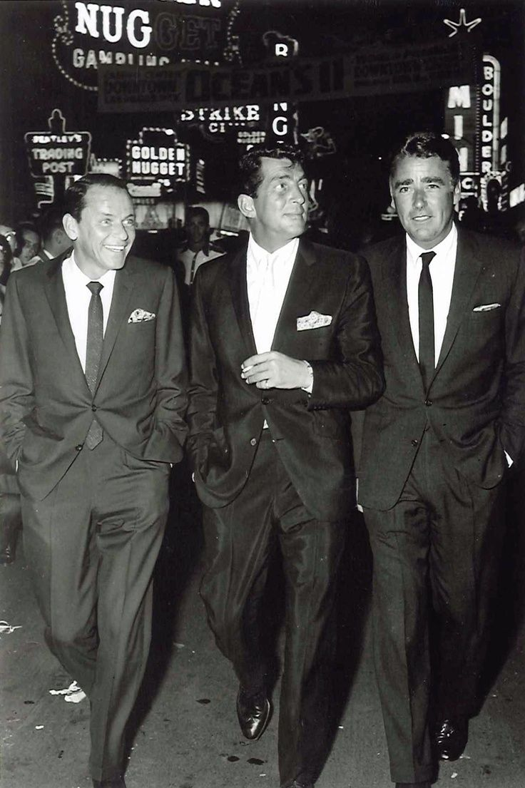 Dean, Frank & Peter Lawford at the premiere of Ocean's Eleven, 1960