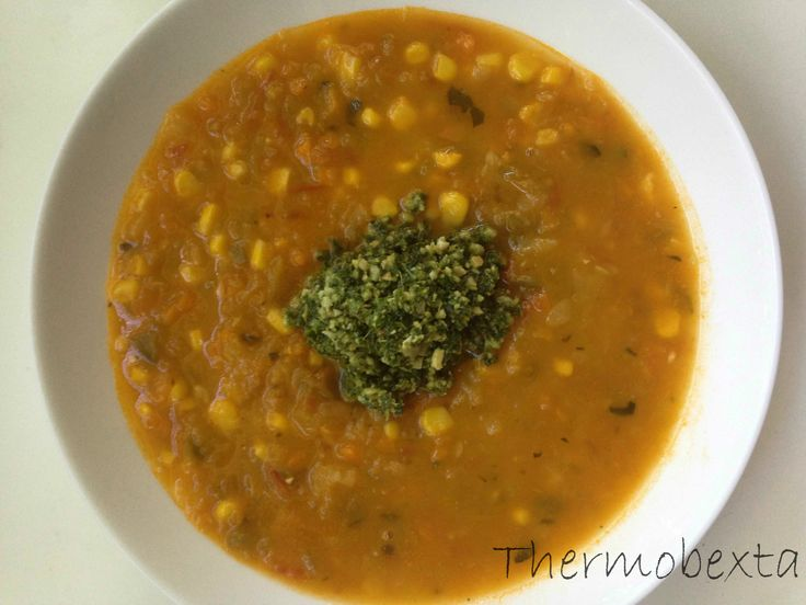 Very vege soup kale pesto