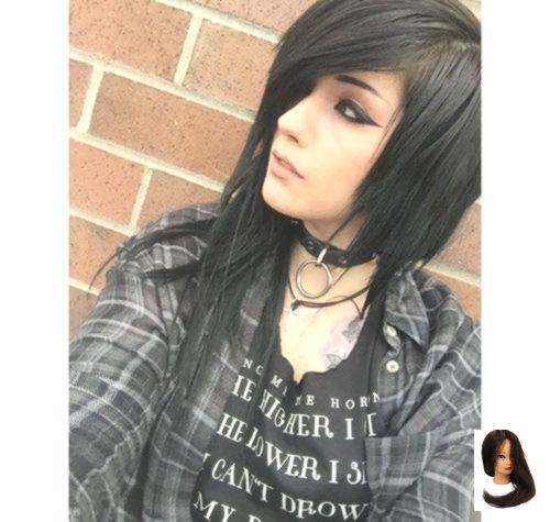 #Schwarz #Schwarzes Haar #Mode #Haar #Bild schwarz, schwarzes Haar und Mode …