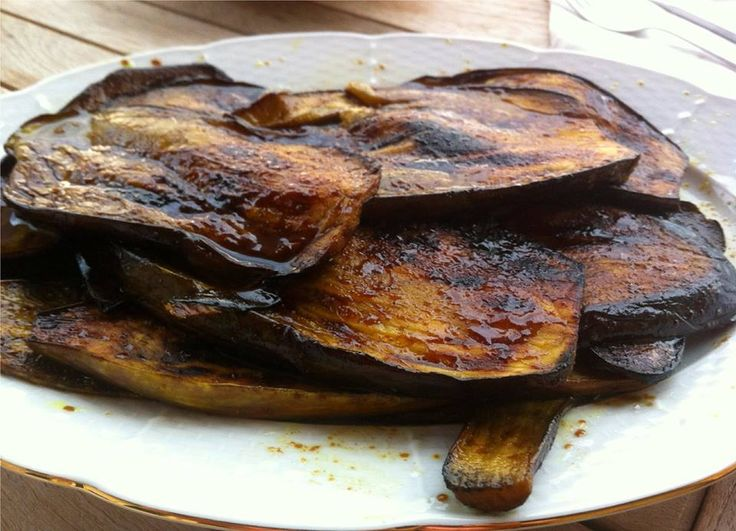 Grilled Eggplant with Balsamic Vinegar and Turmeric