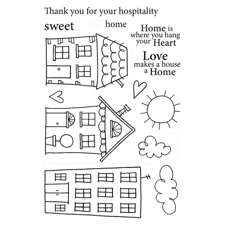 Janes Doodles - Clear Stamp Home Sweet Home