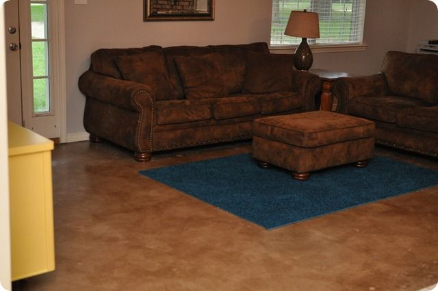 I Think This Is The Choice For The Living Room Diy Painted And Stained Concrete Floors They