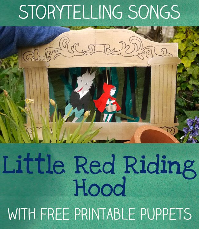 Little Red Riding Hood - story telling  songs - with Free Printable Puppets - letsplaykidsmusic.