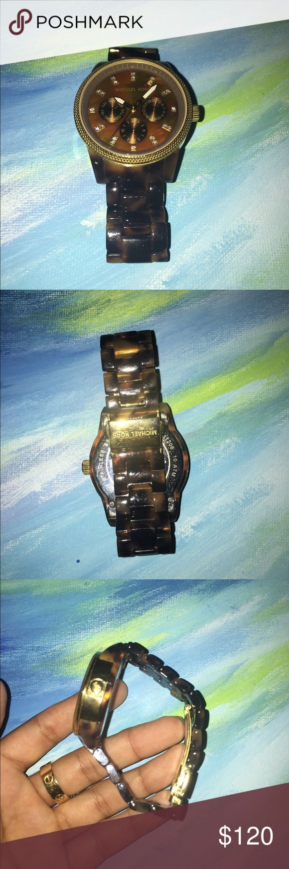 Michael Kors Tortoise Shell Watch Beautiful MK Tortoise Shell watch! originally bought from Nordstrom and is in very good condition. I haven't worn it much but it works great and looks great! So chic :-) also accepting offers! Michael Kors Accessories Watches