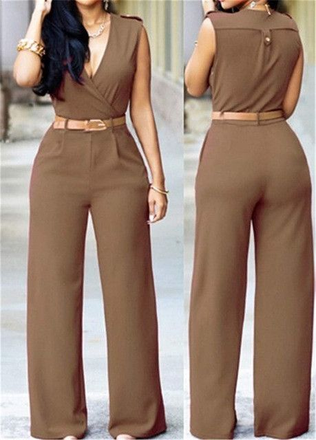 Womens Rompers Jumpsuit Pant Elegant White Spring Summer Casual Office Clothing
