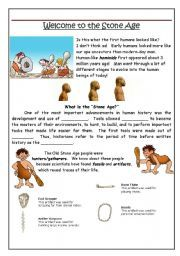 Stone Age Worksheets - Delibertad