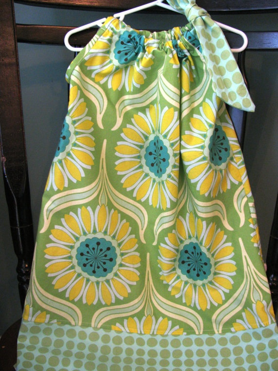 Pillowcase dress Heather Bailey & Amy Butler by alisplace1 on Etsy, $22.00: Pillowcase Dresses, Heather Bailey, Dress Heather