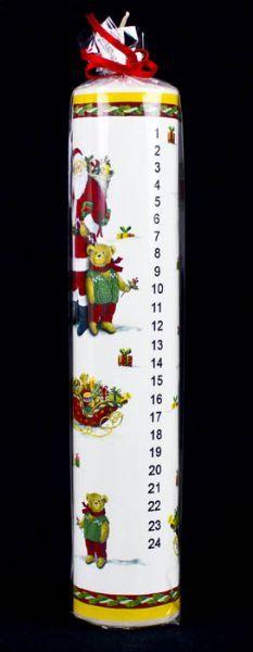 Kalenderlys med motiver - Butik Paradisets bamser, tøj og brugskunst