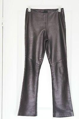 DANIER-Women-039-s-Black-100-Leather-Pants-Boot-Cut-Motorcycle-Made-In-Canada-Sz-2