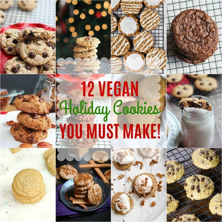 The Best 12 Vegan Holiday Thanksgiving and Christmas Cookies ever! All so easy to make and crowd-pleasing! via @thevegan8