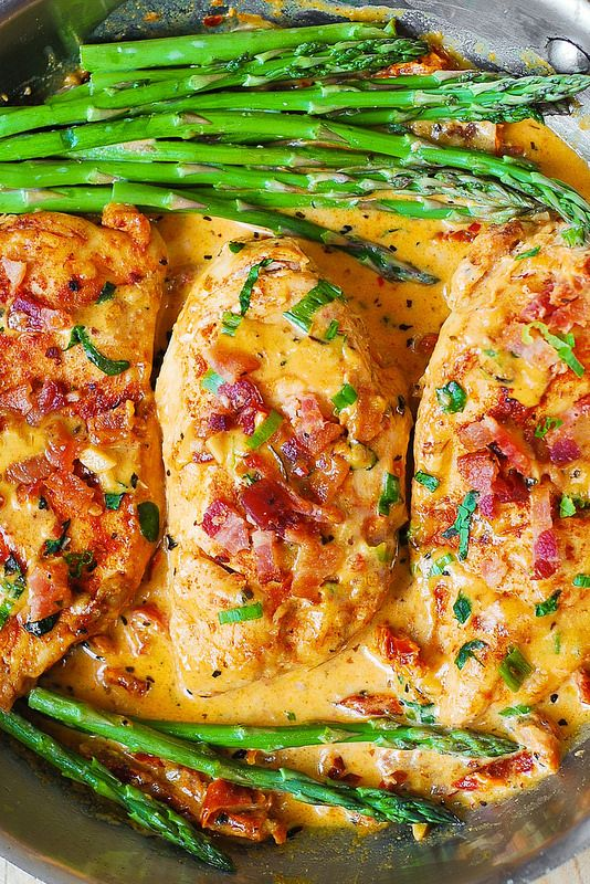 #YUMMY Bacon Chicken with Sun-Dried Tomato Cream Sauce!!! ~XOX #MomAndSonCookingTeam