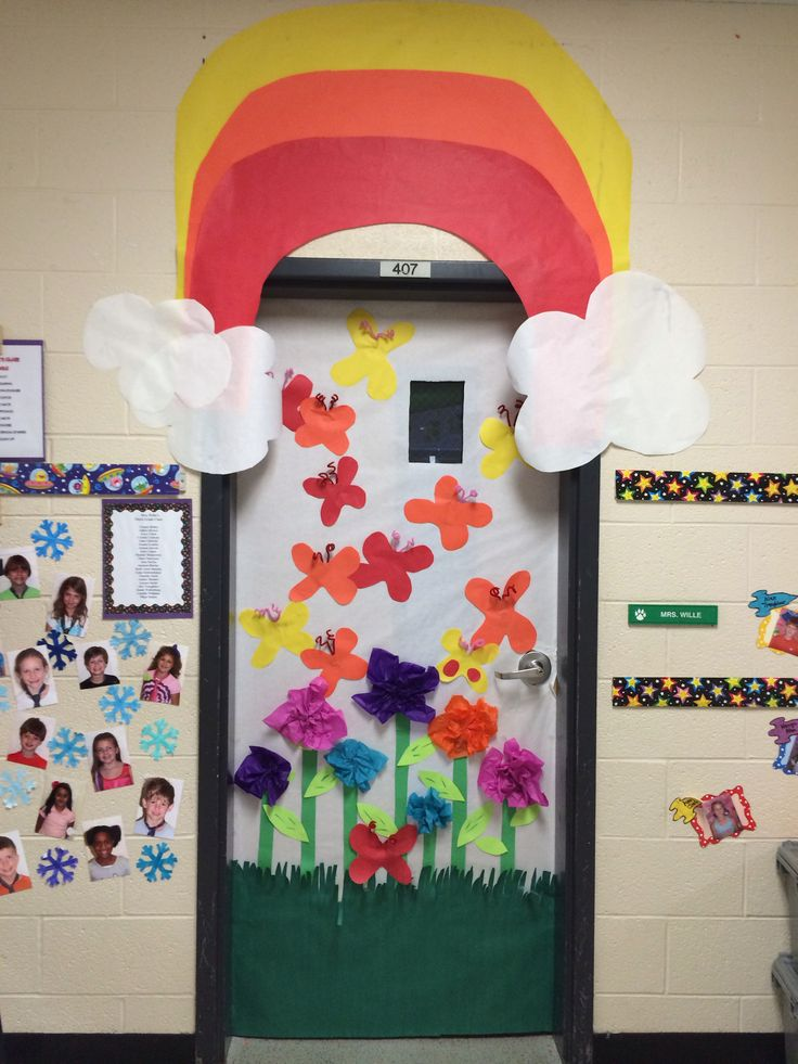 17 best images about spring door decorations on pinterest happy spring school door - Spring door decorations for school ...