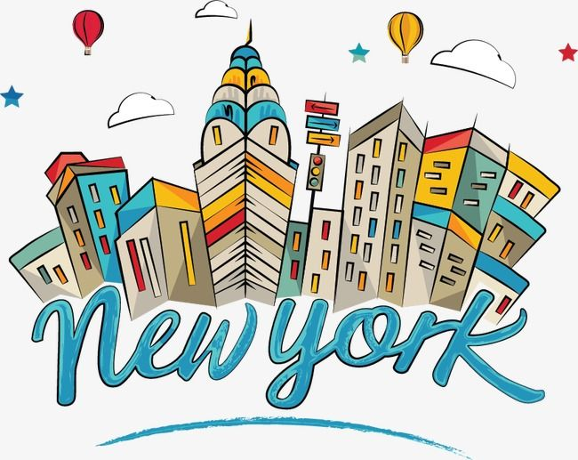 Drawing Comic World Of New York City Landmarks World Vector New Vector City Vector Png And Vector With Transparent Background For Free Download City Cartoon City Drawing City Vector