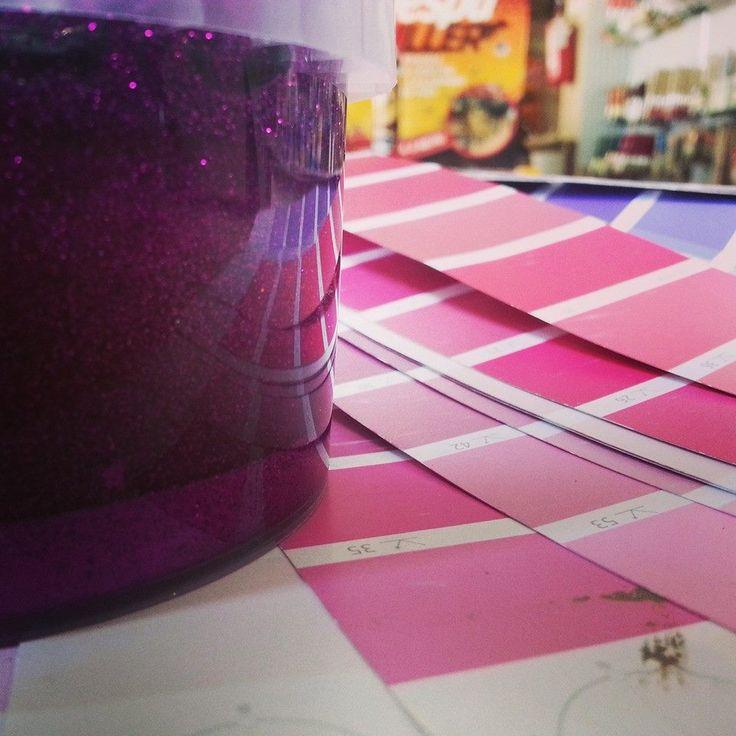 #glitter per #pareti #fucsia