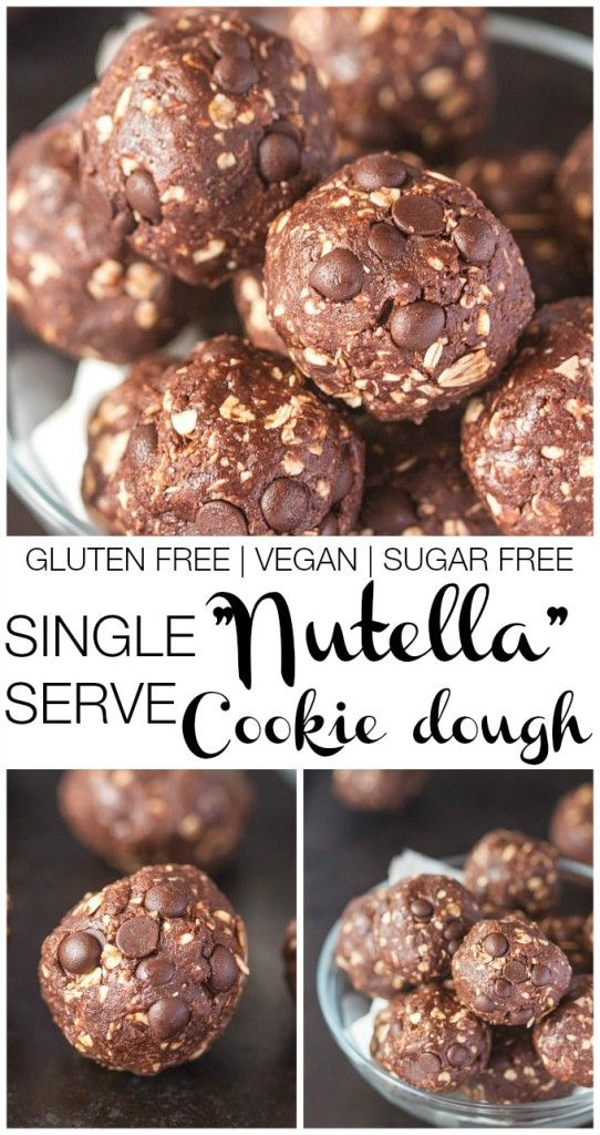 Nutella Breakfast Cookie Dough- Single serving recipe which is vegan, gluten free, high in protein and completely sugar free!