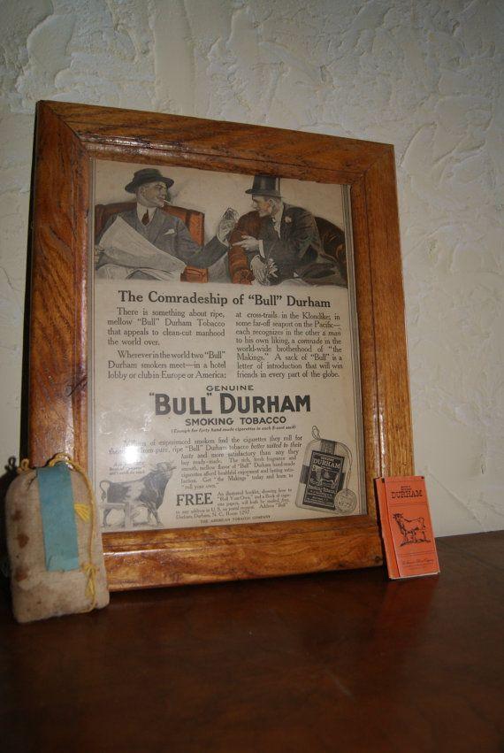 Vintage BULL DURHAM Ad Plus Bull Durham Original by WisdomLane