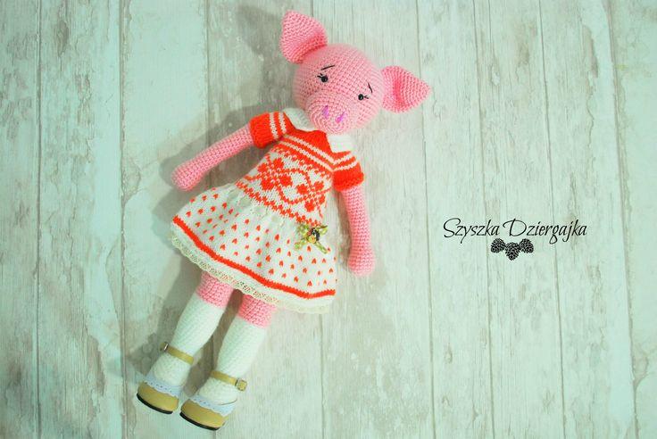 Świnka robiona szydełkiem, crochet pig, amigurumi…