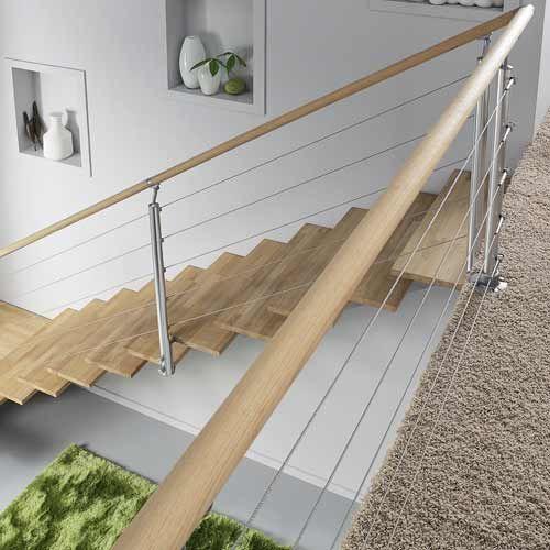 Balustrade garde corps et rampe d escalier leroy merlin d coration int rie - Hauteur rampe d escalier ...