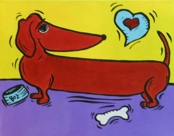 X Canvas Dog Picture