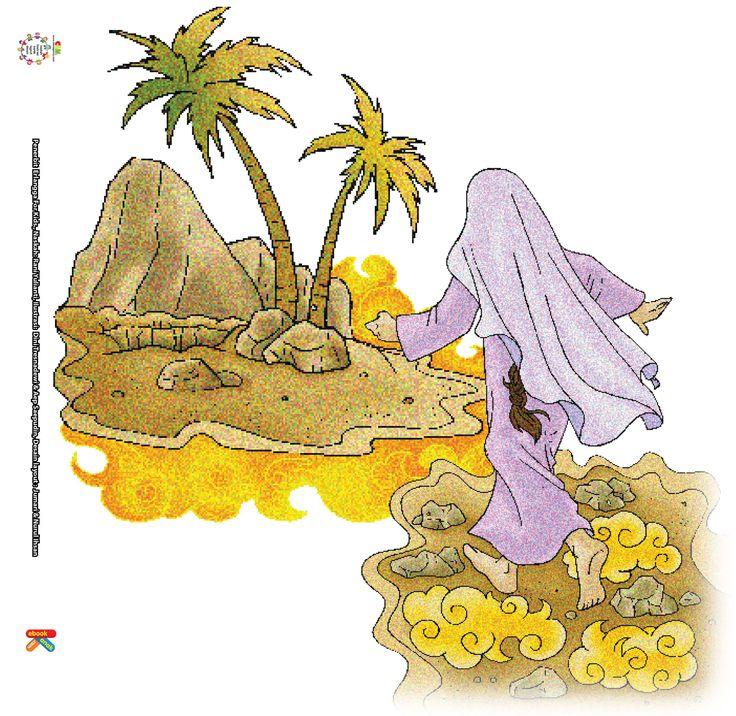 Kemudian, Malaikat Jibril mengajak Siti Hajar ke suatu tempat. Di tempat itu, Malaikat Jibril menginjakkan kakinya sekuat-kuatnya di atas tanah.