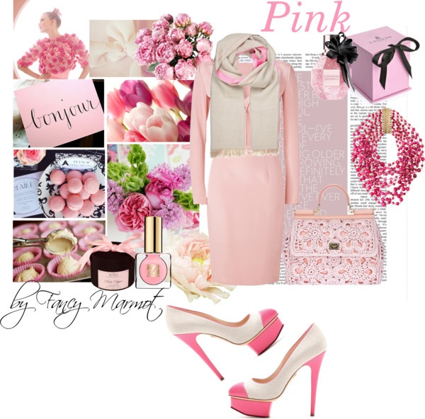 """pink"" by fancymarot on Polyvore"