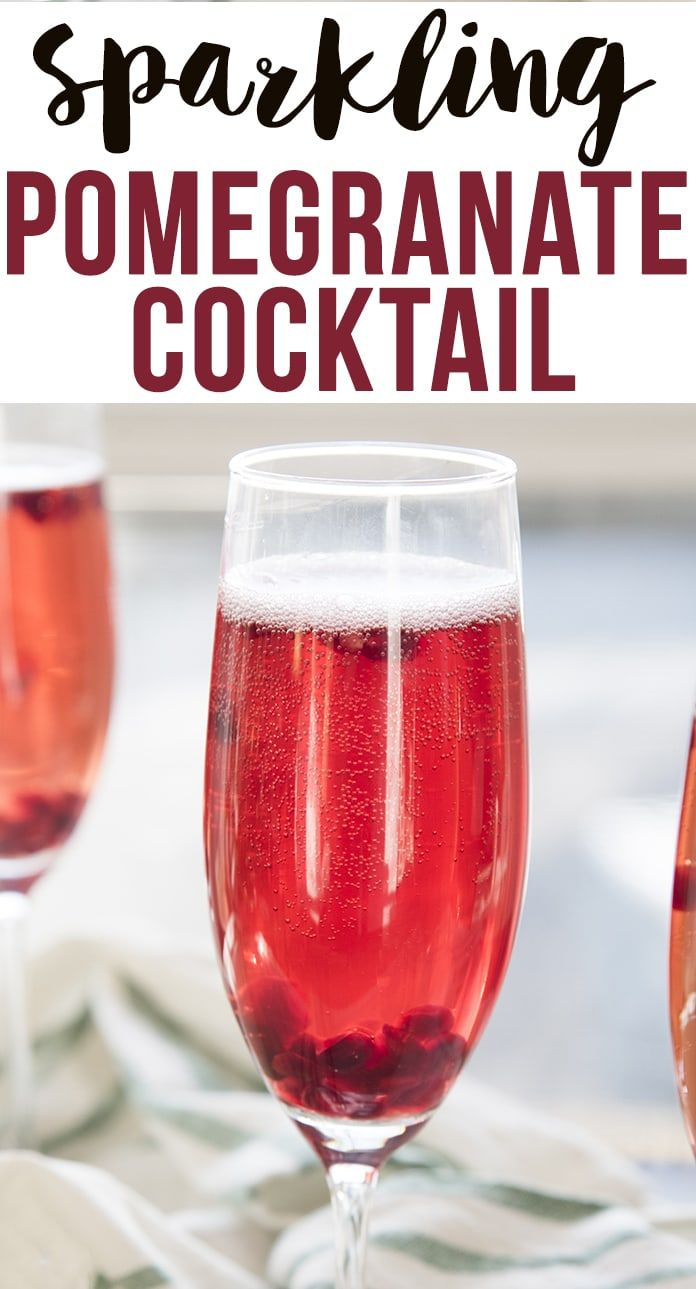 This Pomegranate Cocktail Is A Delicious Sparkling Drink That Is Perfect For The Holidays Pomegranate Cocktails Sparkling Drinks Pomegranate Cocktail Holiday
