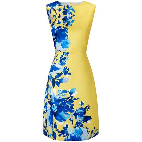 Precis Petite Petite Roma Print Dress ($100) ❤ liked on Polyvore featuring dresses, sale women dresses, floral dresses, petite dresses, floral print prom dresses, floral shift dress and beige dress