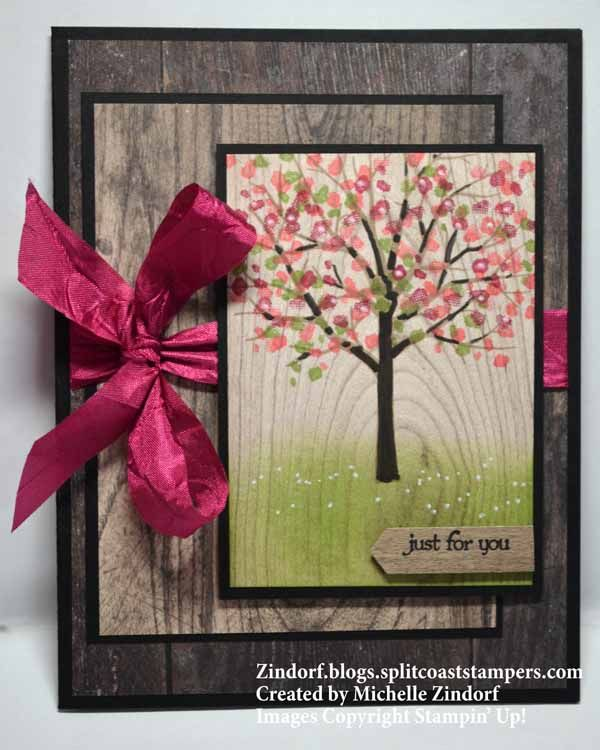 Wood Textures Spring Tree – Stampin' Up! Card