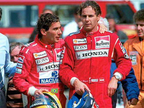 Ayrton Senna with Gerhard Berger