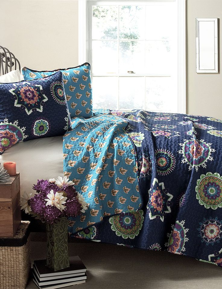 Shop today for Lush Decor 3-pc. Adrianne Navy Paisley Quilt Set  & deals on Kids & Teens Room! Official site for Stage, Peebles, Goodys, Palais Royal & Bealls.