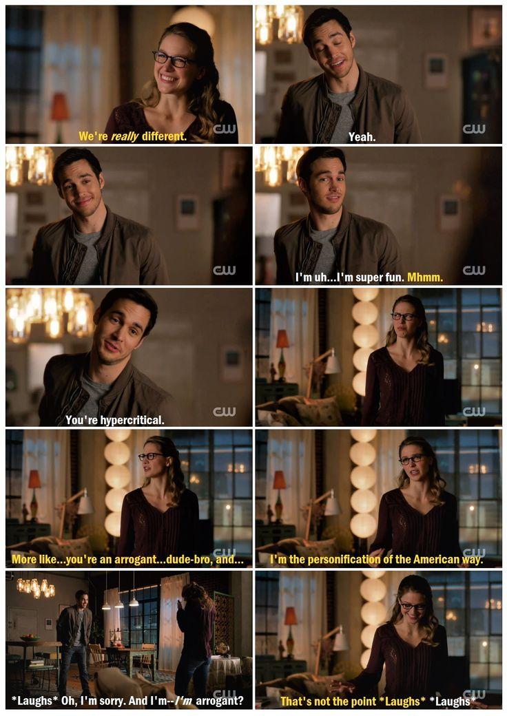 "One of my favorite Kara/Mon-El moments so far. I love that their dynamic is somewhere between kids insulting each other and adults flirting. Before Mon-El, I wasn't sure Kara COULD joke around/borderline flirt with a guy like this. <3 |TV Shows||CW||#Supergirl funny edit||Season 2||2x12||""Luthors""||Kara x Mon-El||#Karamel edit||Melissa Benoist||Chris Wood||#DCTV|"