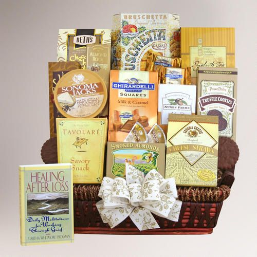 One of my favorite discoveries at WorldMarket.com: Caring Condolences Sympathy Basket