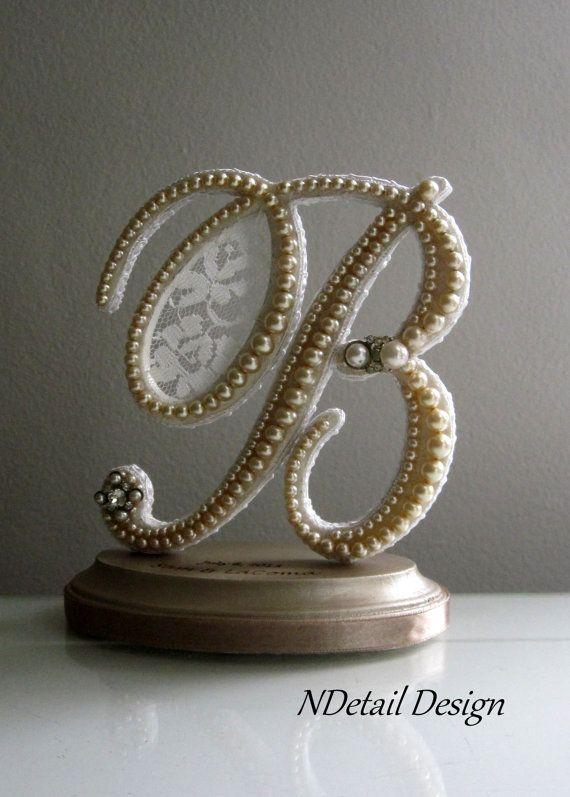 Wedding Cake Topper & Display Custom Monogrammed by NDetailDesign, $113.99