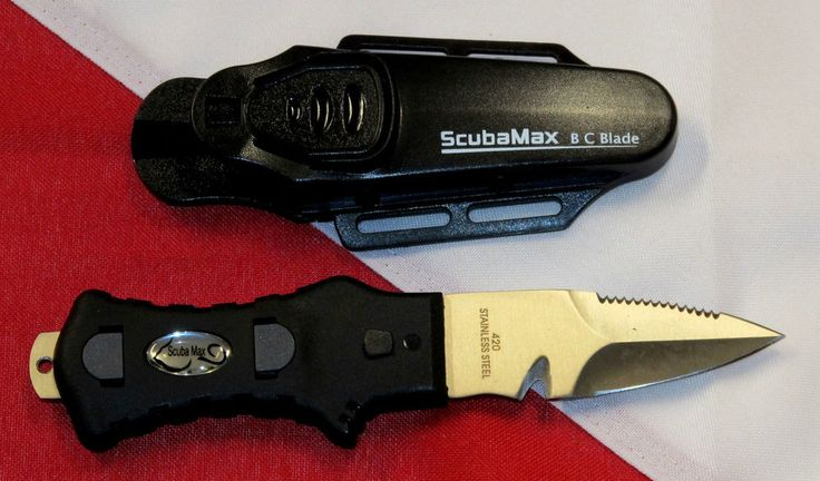 Stainless BCD Dive knife scuba diving equipment KN-110 spearfishing freediving  #ScubaMax