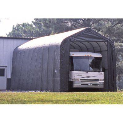 ShelterLogic 14 x 40 x 16 ft. Peak Style Boat/RV Canopy Carport - 95843, Durable