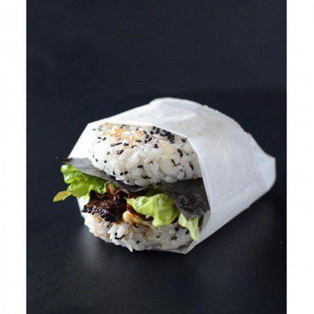 Para quem gosta de sabor e aspecto apetitoso, trata-se de sushis em forma de hambúrguer.
