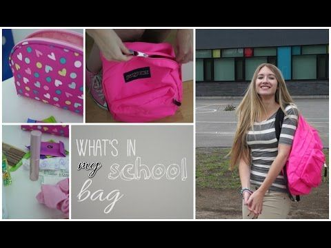 Ce qu'il y a dans mon sac d'école !   Back to school