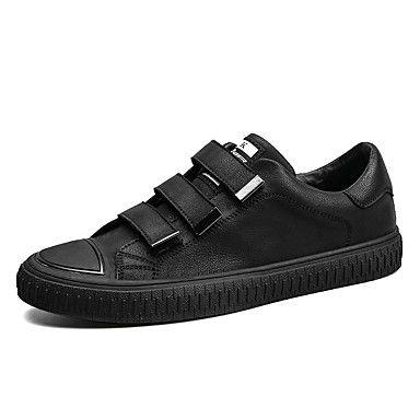 Masculino sapatos Couro Ecológico Primavera Outono Conforto Mocassim Sapatos de mergulho Tênis Para Casual Preto Castanho Escuro de 6254893 2017 por R$116,49